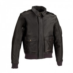 Trucker Leather Jacket A real remake of the flight jacket