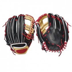 Black baseball gloves infield 12.5 fastpitch glove hand throw