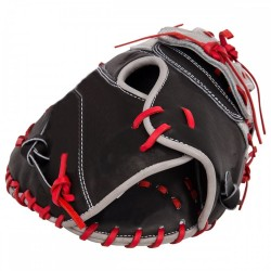 Black First base mitt durable 12.75 left handed gloves