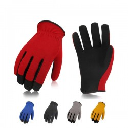 Breathable mechanic gloves synthetic leather strong grip and protection work gloves