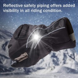 Winter Reflective Warm Insulated Touch Screen Gel Padding Ski Gloves