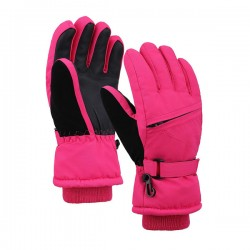 Kids' Zippered Pocket 3M Thinsulate Cotton Ski Snowboarding Gloves