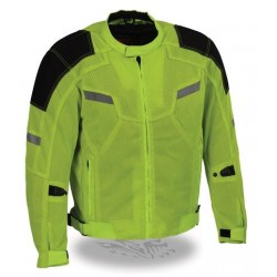 Men's Motorcycle Armored Textile Jacket with Removable Jacket Liner