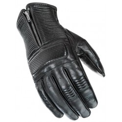 Cafe Racer Men's Black Leather Gloves