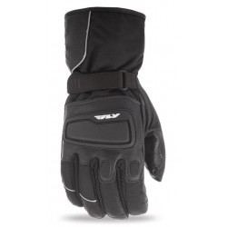 Black Leather Snowmobile Gloves