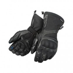 Men's Black Leather/Textile Gloves