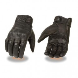 Men's Perforated Leather Gloves