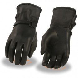 Ladies Light Lined Leather Gauntlet Glove