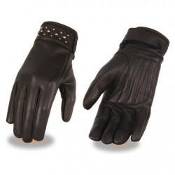 Black Ladies Leather Glove with Gel Pam