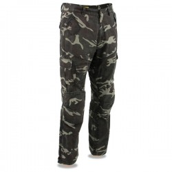 Men's Armored CAMO Cargo Jeans Reinforced w/ Aramid® by DuPont™ Fibers