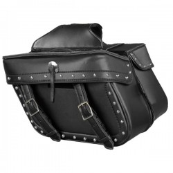Zip Off PVC Studded Throw Over Saddle Bag