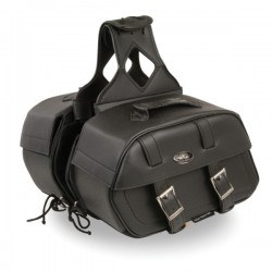 Zip-Off PVC Throw Over Rounded Saddle Bag