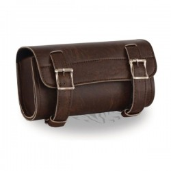 Two Buckle Antique Brown PVC Tool Bag