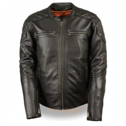 Men's Full Side Lace Vented Scooter Jacket