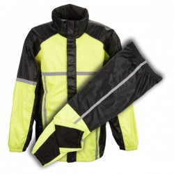 Men's Waterproof Rain Suit w/ Hi Vis Reflective Tape