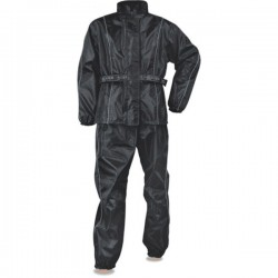 Men's Black Rain Suit Oxford Nylon Lightweight