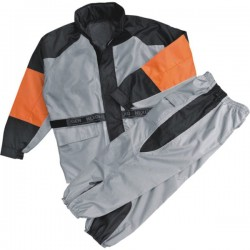 Men's Orange & Silver Rain Suit