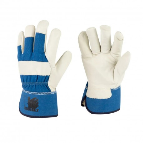 Thinsulated C100 Fully Lined Cow Grain Leather Full Palm Winter Work Glove with Ce Certificate