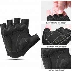 Cycling Gloves Men Fingerless MTB Breathable