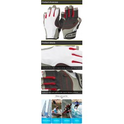 Short Finger Top Quality Outdoor Boating Sailing Sports Gloves Canoe Paddling Kayaking Gloves Supplier