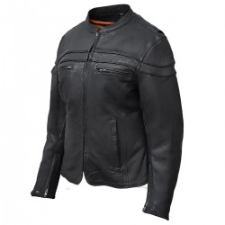 Leathers Women's Racer Black Leather Jacket