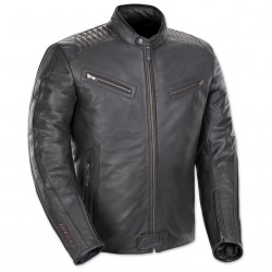 Men's Vintage Black/Black Leather Jacket