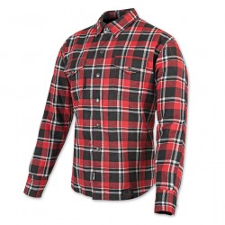 Panther Red/White Flannel Moto Jacket