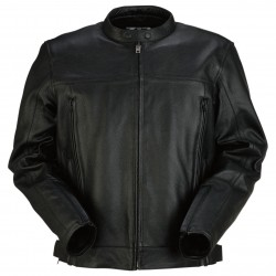 Men's Panther Black Leather Jacket