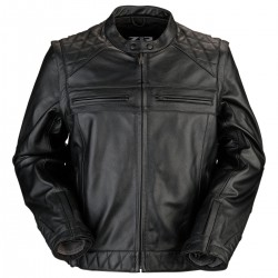 Men's 3 In 1 Panther Black Leather Jacket