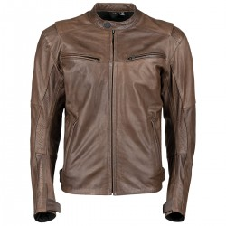 Men's Dark Horse Brown Leather Jacket