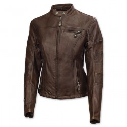 Women's Tobacco Brown Leather Jacket