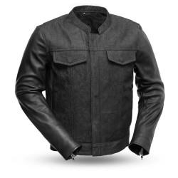 Panther Denim / Leather Motorcycle Jacket