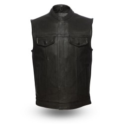 Men's Motorcycle Leather Vest